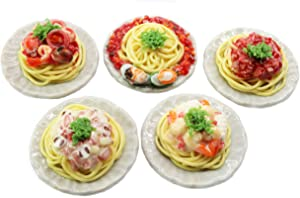 ThaiHonest Mixed 5 Assorted Spaghetti Dollhouse Miniature Food,Tiny Food