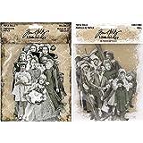 Tim Holtz Idea-Ology Halloween Paper Dolls and Christmas Paper Dolls - 2 Item Bundle