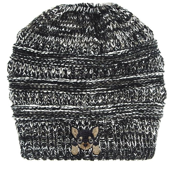 bb1f600cf9e Lhotse Chihuahua Embroidered Puppy Dog Series Beanie - Stretch ...