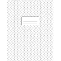 Isometric Graph Paper Notebook: Large Pad 8.5x11 | 110 Pages | Subtle Light Grey Grid | 1/4 Inch Equilateral Triangle | Softcover Book | For 3D Design, Technical Drawing, Artwork