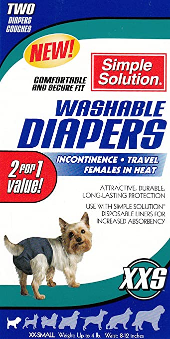 Amazon.com : 2Pk Simple Solution Washable Diapers Cover Ups XXS ...