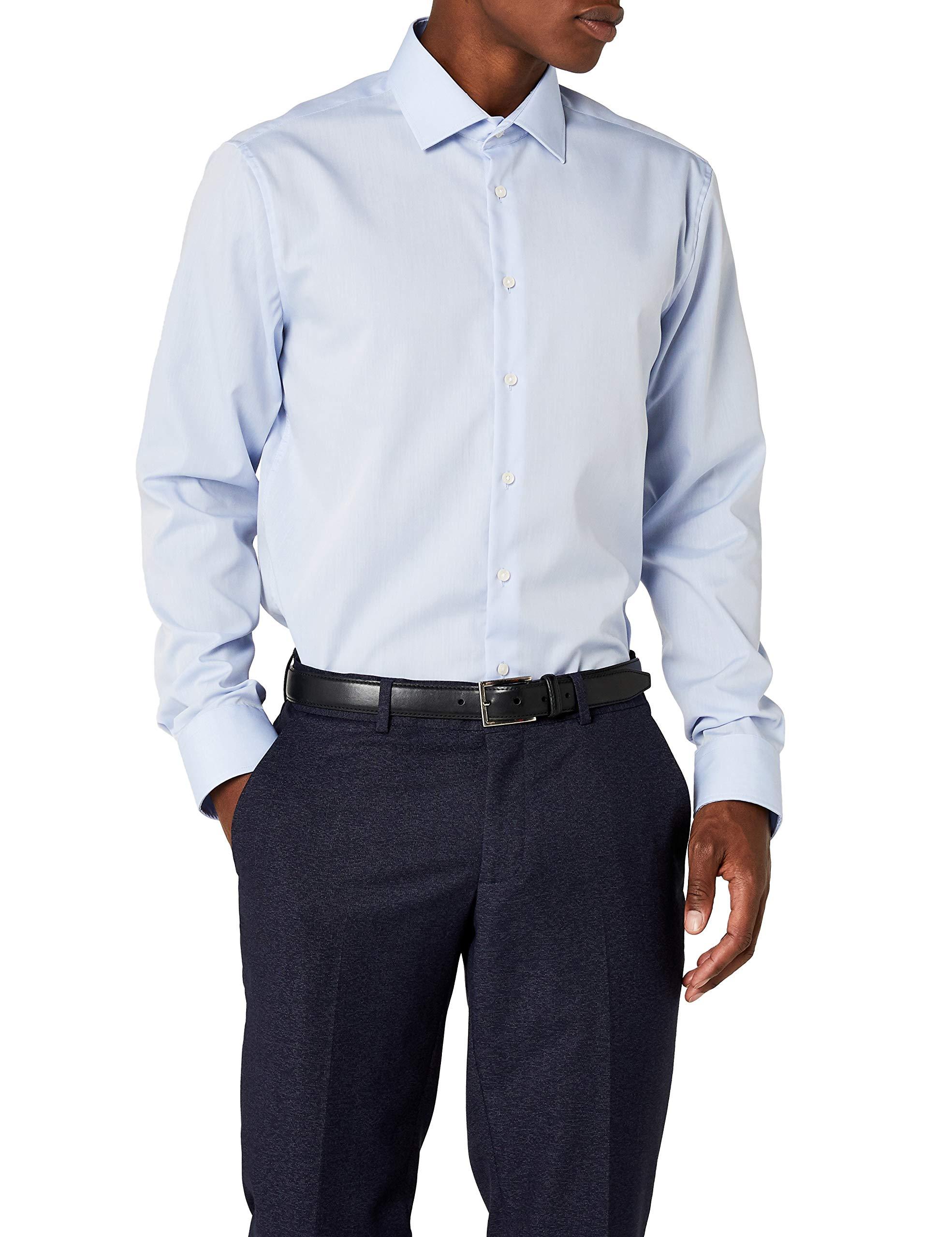 b27594dc218e Seidensticker Herren Business Hemd Tailored Langarm Kent-Kragen Bügelfrei  product image