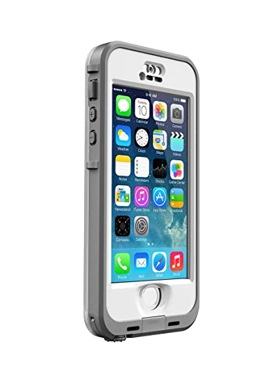 online store d77a9 28800 LifeProof NÜÜD SERIES Waterproof Case for iPhone 5/5s/SE - Retail Packaging  - WHITE (WHITE/CLEAR) (Discontinued by Manufacturer)