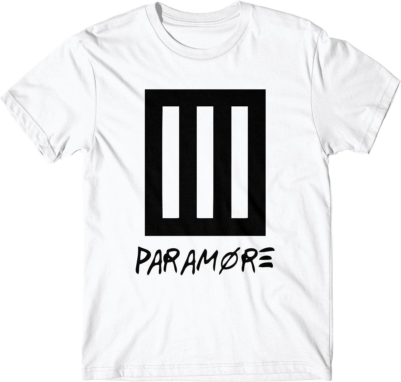 LaMAGLIERIA Camiseta Hombre Paramore New Logo Black Print - Camiseta Punk Rock 100% algodòn, M, Blanco: Amazon.es: Ropa y accesorios