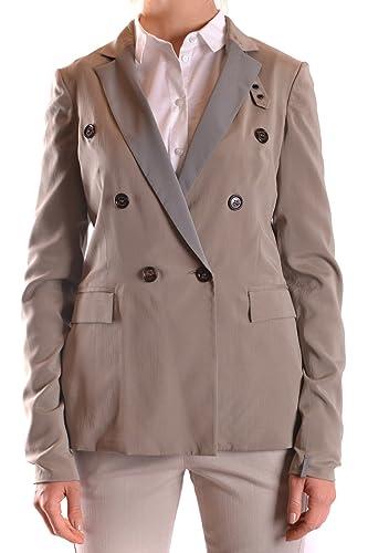 Brunello Cucinelli Mujer MCBI053001O Beige Seda Trench Coat