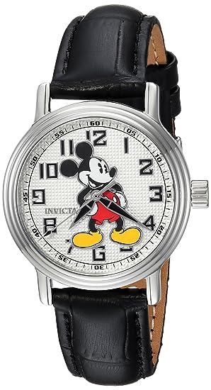 Invicta 24547 Disney Limited Edition - Mickey Mouse Reloj para Mujer Acero Inoxidable Cuarzo Esfera Blanco