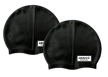 DeNovo Swimming Cap Black  Set of 2  Swim Caps