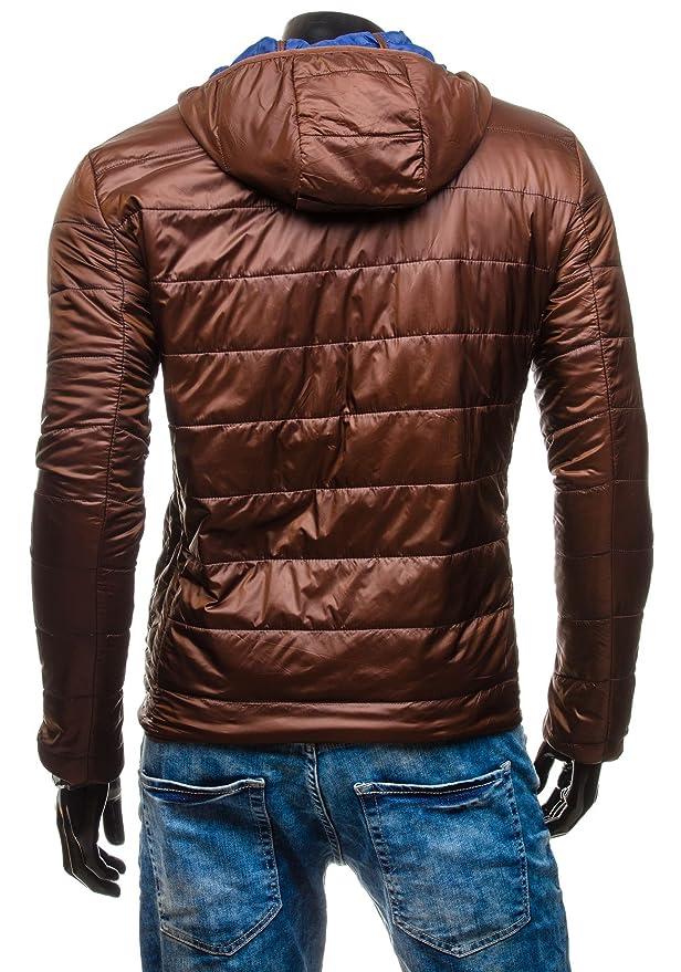 BOLF Herrenjacke Sportjacke Winterjacke Steppjacke Übergangsjacke Kapuze  4D4: Amazon.de: Bekleidung