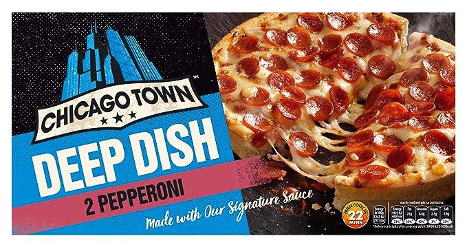 Chicago Town 2 Deep Dish Pepperoni Pizzas 2 X 160g Frozen