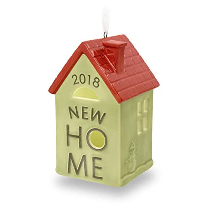 hallmark keepsake christmas ornament 2018 year dated new home homeowner gift ceramic
