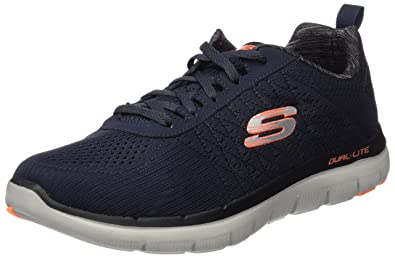 Skechers Flex Advantage 2.0, Chaussures Multisport Outdoor Homme, Bleu (NVY), 46 EU