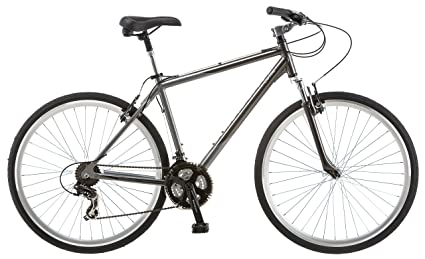 17f26271b Amazon.com : Schwinn Capital 700c Hybrid Bicycle for Men, Grey ...