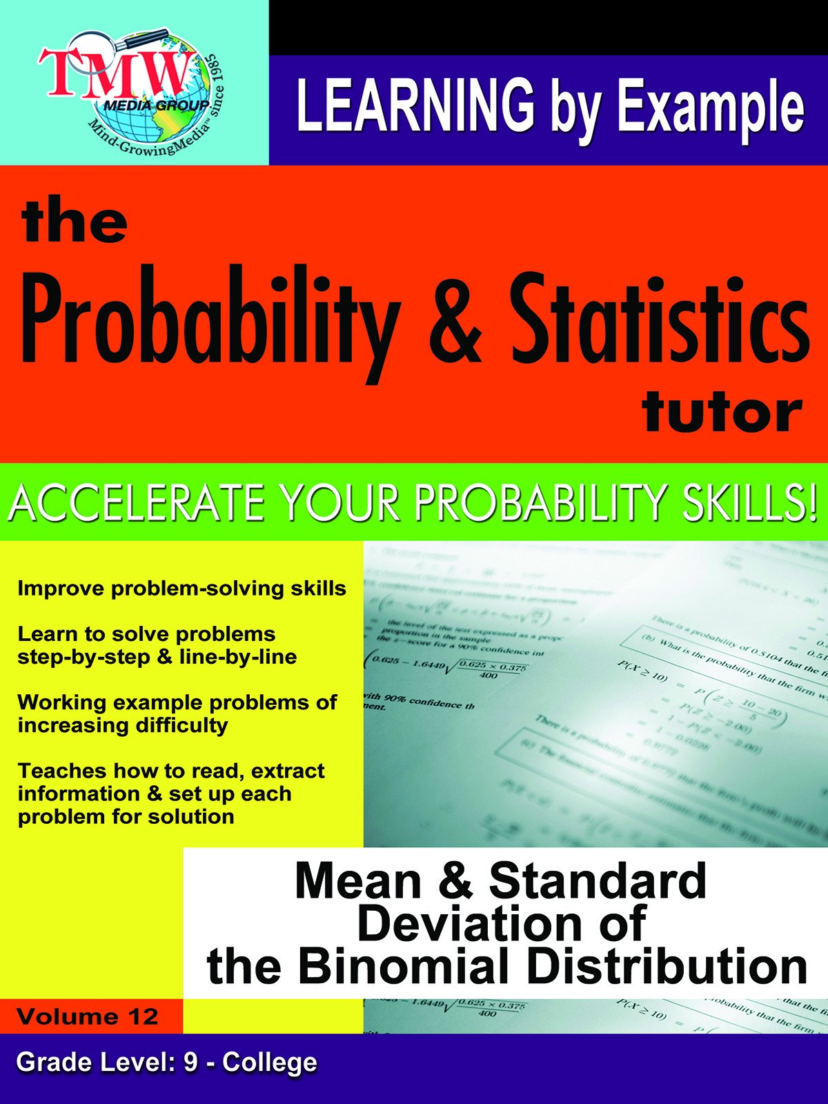 Probability & Statistics Tutor: Mean & Standard Deviation of the Binomial Distribution on Amazon Prime Video UK