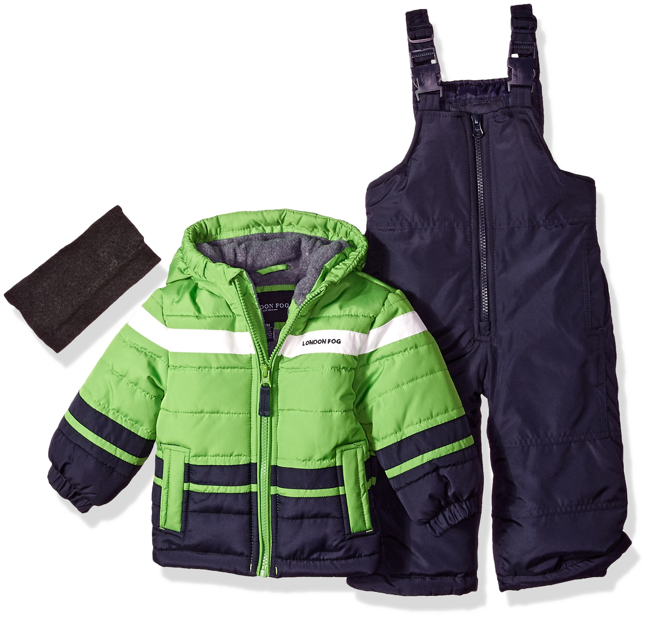 London Fog Baby Boys 2-Piece Snow Pant & Jacket Snowsuit, Green, 12M by London Fog