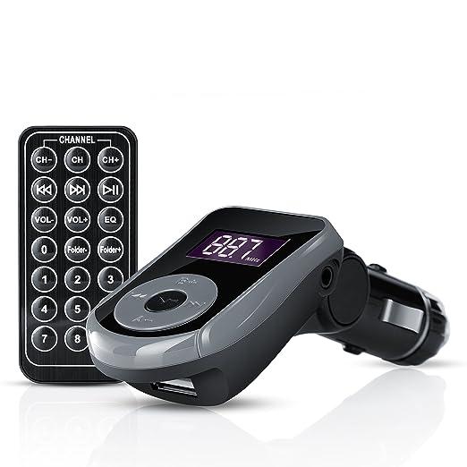 3 opinioni per CSL- Trasmettitore FM per auto (USB / SD / MMC / AUX) | incluso telecomando |
