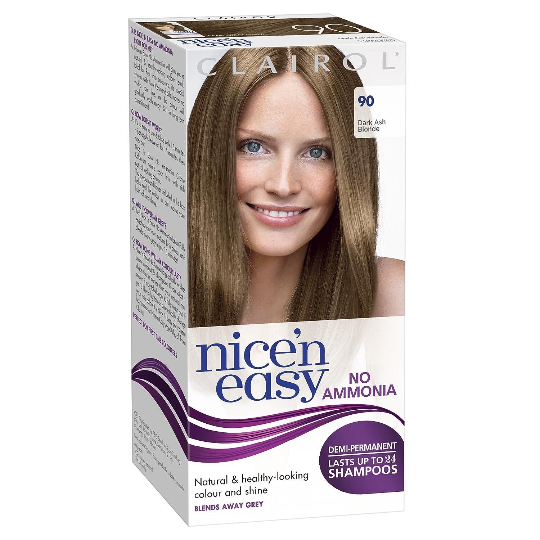 Clairol Nicen Easy Semi Permanent Hair Dye No Ammonia 90 Dark Ash