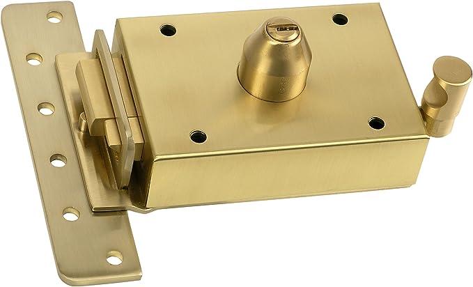 Inceca 3671205 Cerradura de sobreponer contra palanca, doble cilindro, lateral izquierda, Bombillo de 55 mm: Amazon.es: Bricolaje y herramientas