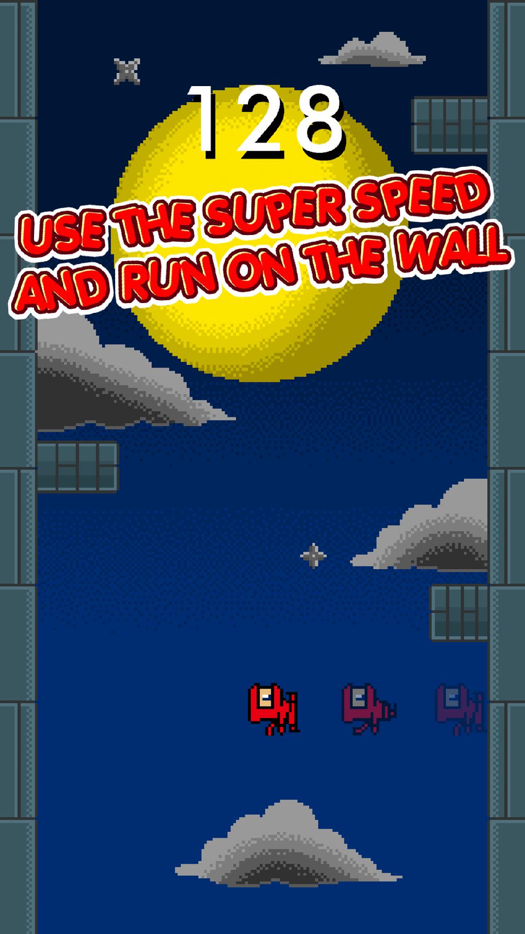 Speedy Ninja Bouncer - Invincible 8 Bit Retro Wall Brick ...