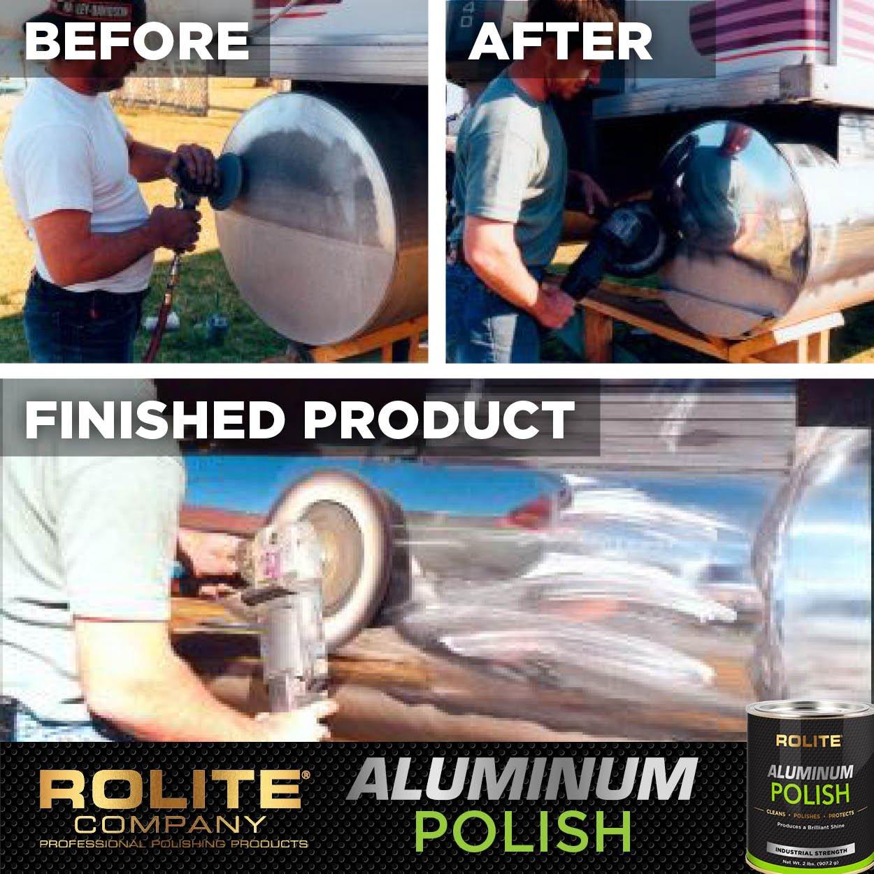 Rolite Aluminum Polish (1lb) for All Aluminum & Bare Metal Surfaces, Canoes, Jon Boats, Pontoons, Diamond Plate, Aluminum Non-Coated Wheels 6 Pack by Rolite (Image #5)