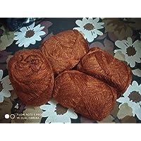 3 PLY Knitting Wool Yarn_Pack 4_100 Gram Each_Orange-Brown_Colored