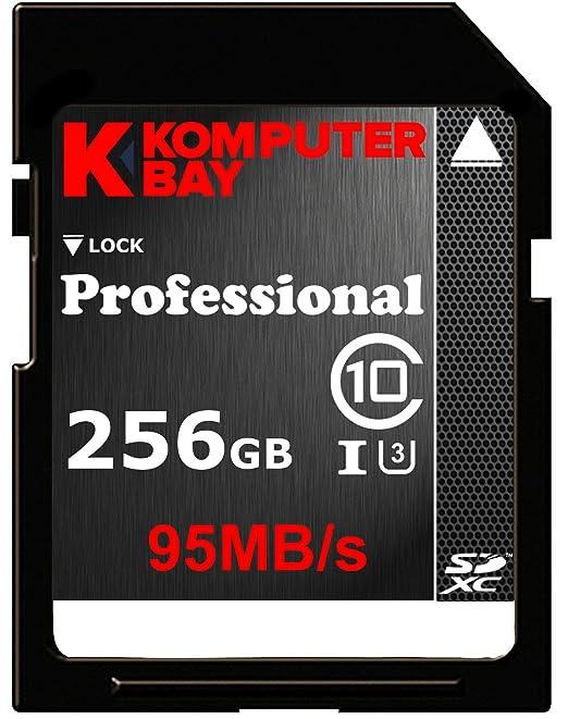 1055 opinioni per Komputerbay professionali 256 GB SDXC ad alta velocità Class 10 UHS-I, U3 fino a