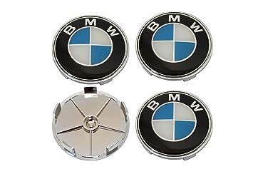 4 x 68 mm BMW Buje Tapa Buje tapas Llanta Tapa Tapacubos tapas resistente a los arañazos.: Amazon.es: Coche y moto