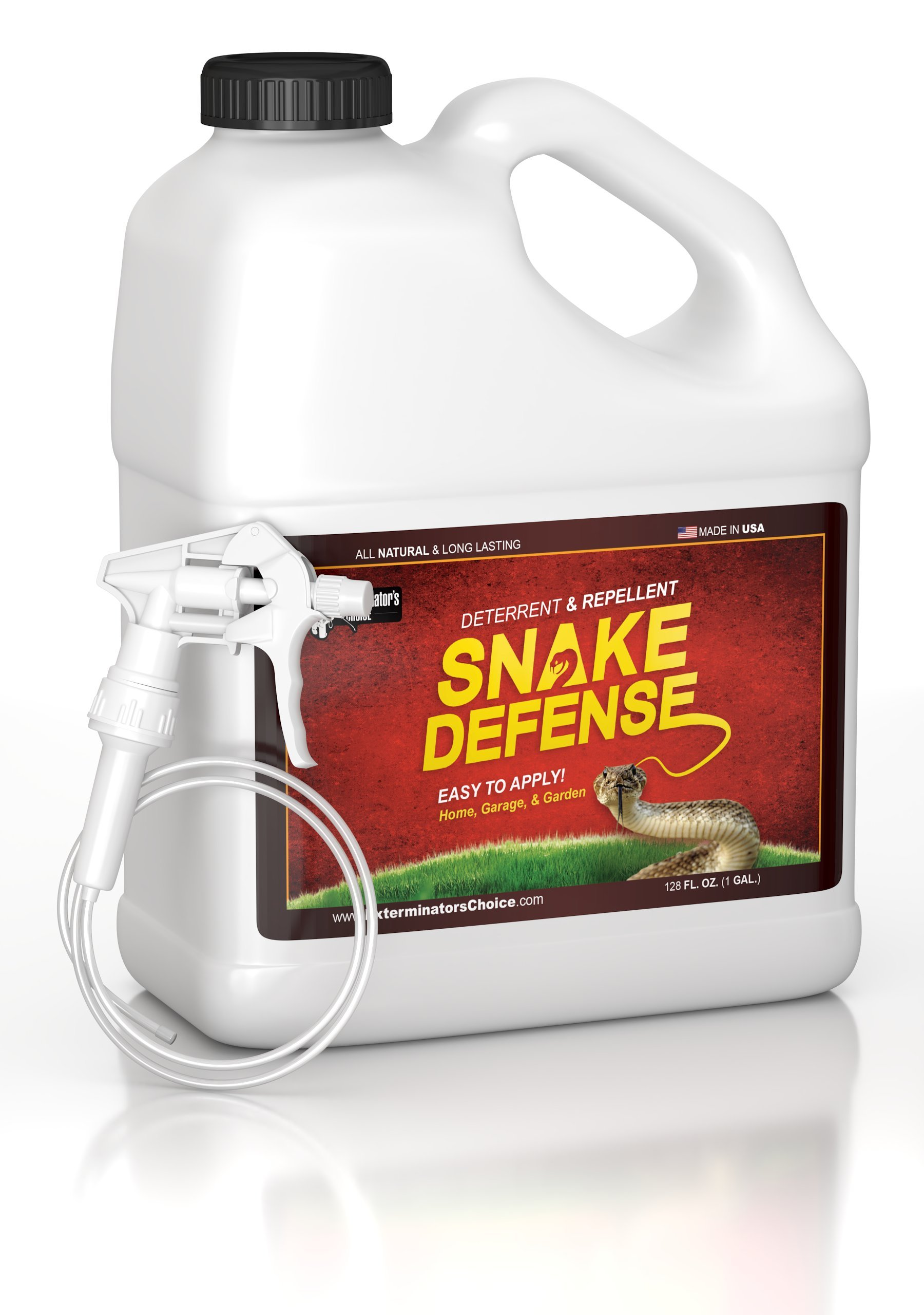 Snake Defense One Gallon Spray Repellent and Deterrent for All Types of Snakes...... by Exterminators Choice