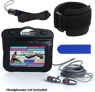 Estuche impermeable para reproductor de MP3 con conector para auriculares y brazalete ajustable con cordón.: Amazon.es: Electrónica