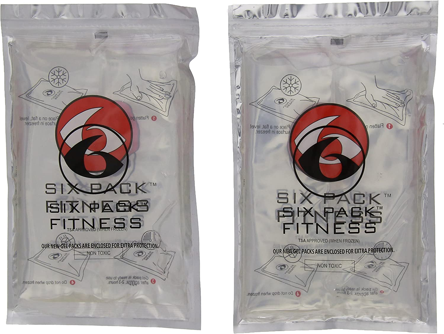 Fitness Large Gel Pack - Set of 2 (Clear) by 6 Pack Fitness ...