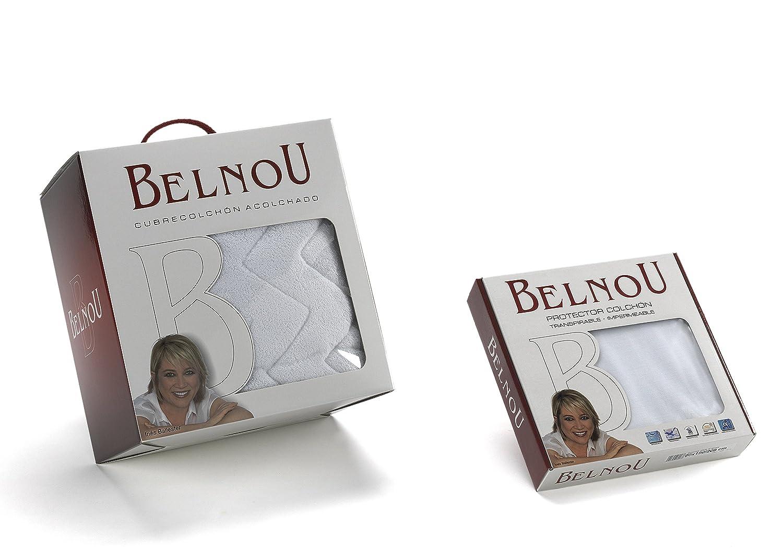 Belnou - Protector colchón altea, cama 135x190, color blanco: Amazon.es: Hogar