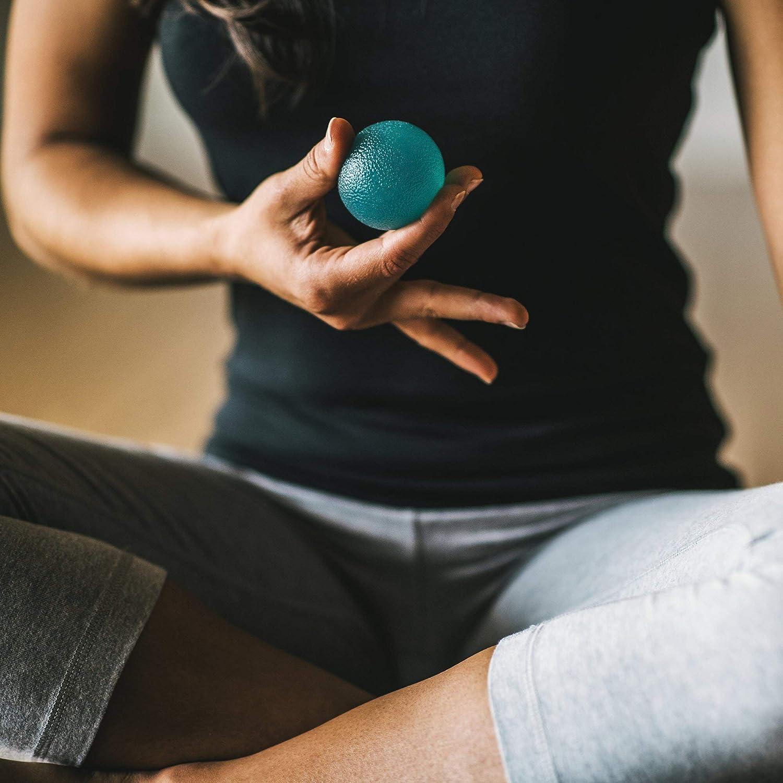 Set di 3 Resistenza O RLY Spremere Palle Palla Antistress per la Mano Dito e Grip rinforzante