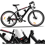 """Sheepfun 26"""" Powerful Electric Mountain Bike with 36V, 8AH Removable Lithium-Ion Battery, 250W Brushless Motor and Shimano Speeds"""