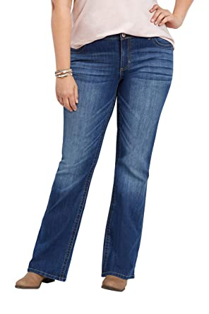 3c805baf456000 maurices Women's Denimflex Bootcut Jeans - Plus Size Medium Wash Mid Rise