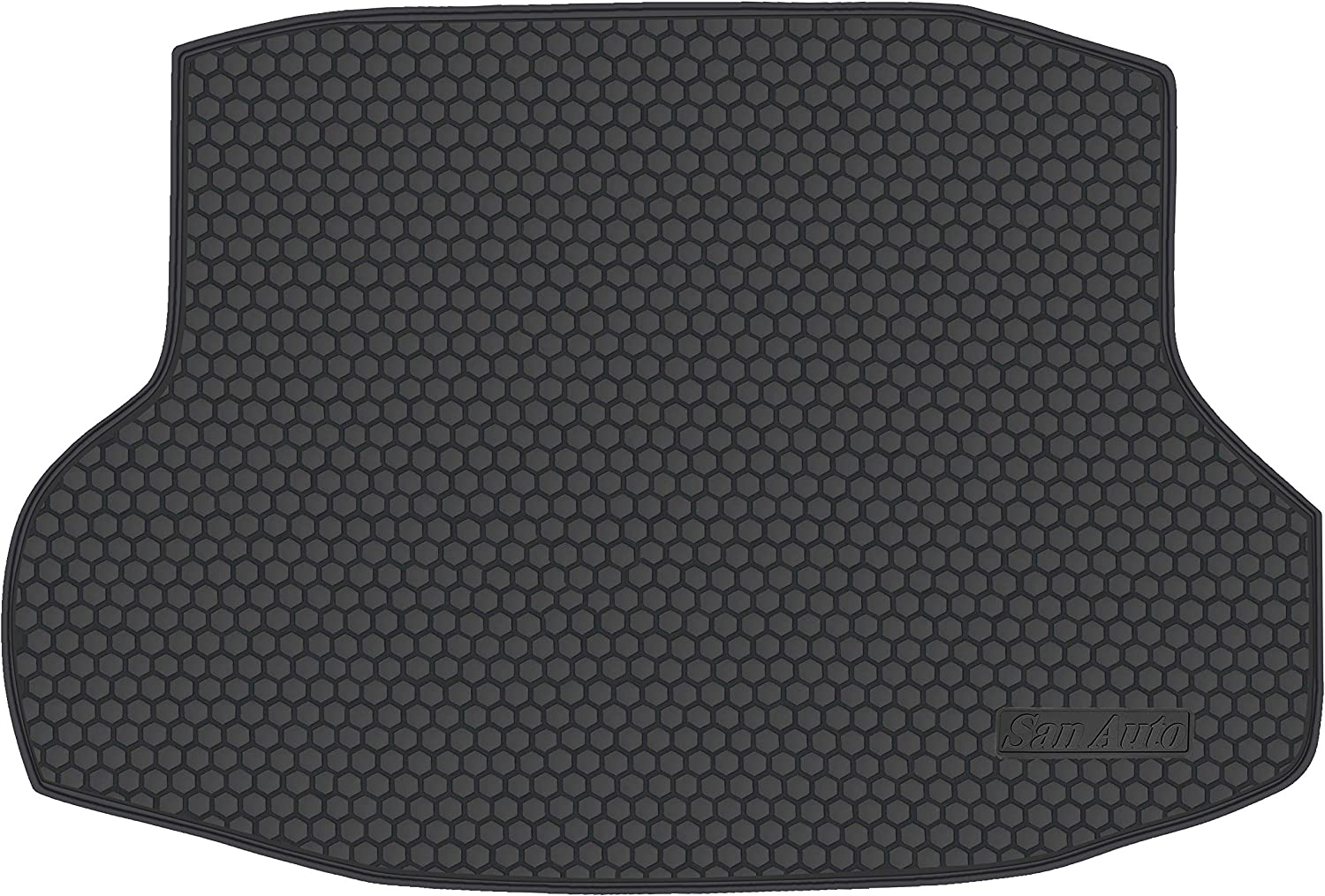 HD-Mart Car Rubber Floor Mat for Honda Civic 10th Generation 2016-2017-2018-2019 Custom Fit Full Black Auto Liner Mats All Weather Heavy Duty /& Odorless