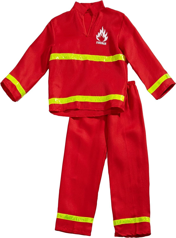 Funny Fashion 403082 - Disfraz Bombero, 2 Teilig: Amazon.es ...