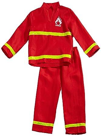 Amazon.com: Bombero Frank disfraz para niños, M, rojo ...