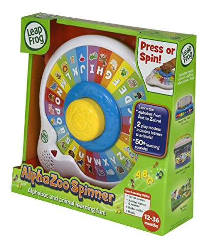 Amazon.com: LeapFrog AlphaZoo Spinner: Toys & Games