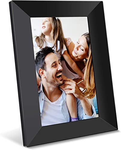 Feelcare Digital WiFi Picture Frame 8 inch, Send Photos or Videos from Anywhere, 16GB Storage,1280×800 IPS HD Display,Touchscreen for Easy Navigation