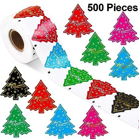 500 Piezas de Pegatinas de Árbol de Navidad Etiquetas ...
