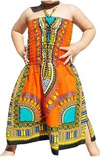 6e42d8cd045 Raan Pah Muang RaanPahMuang Brand Dress Halter Dashiki Colors African Child  Smock Chest Strap