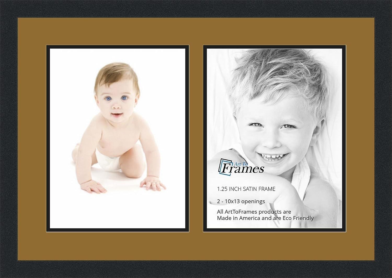 ArtToFrames アルファベット写真画像フレーム  4x6インチ開口部2つとサテンブラックフレーム 2 - 18x24 Double-Multimat-1423-754/89-FRBW26079 B00G03MHO8 2 - 18x24,ポーセリン