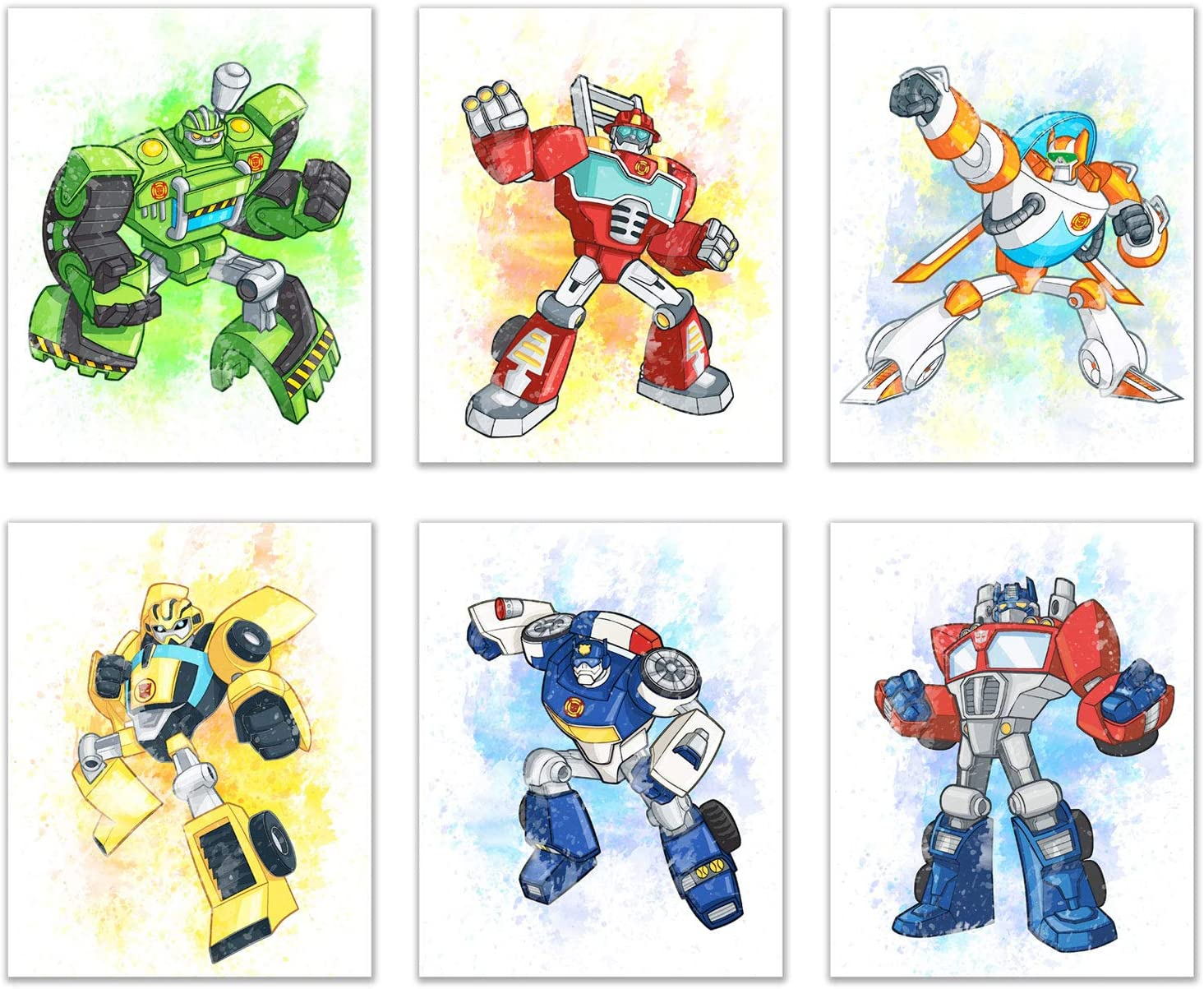 Transformers Prints - Set of 6 Wall Art Decor (8 inches x 10 inches) Photos