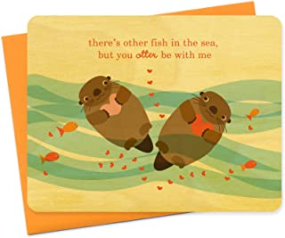 product image for Night Owl Paper Goods Otter Love Wood Card