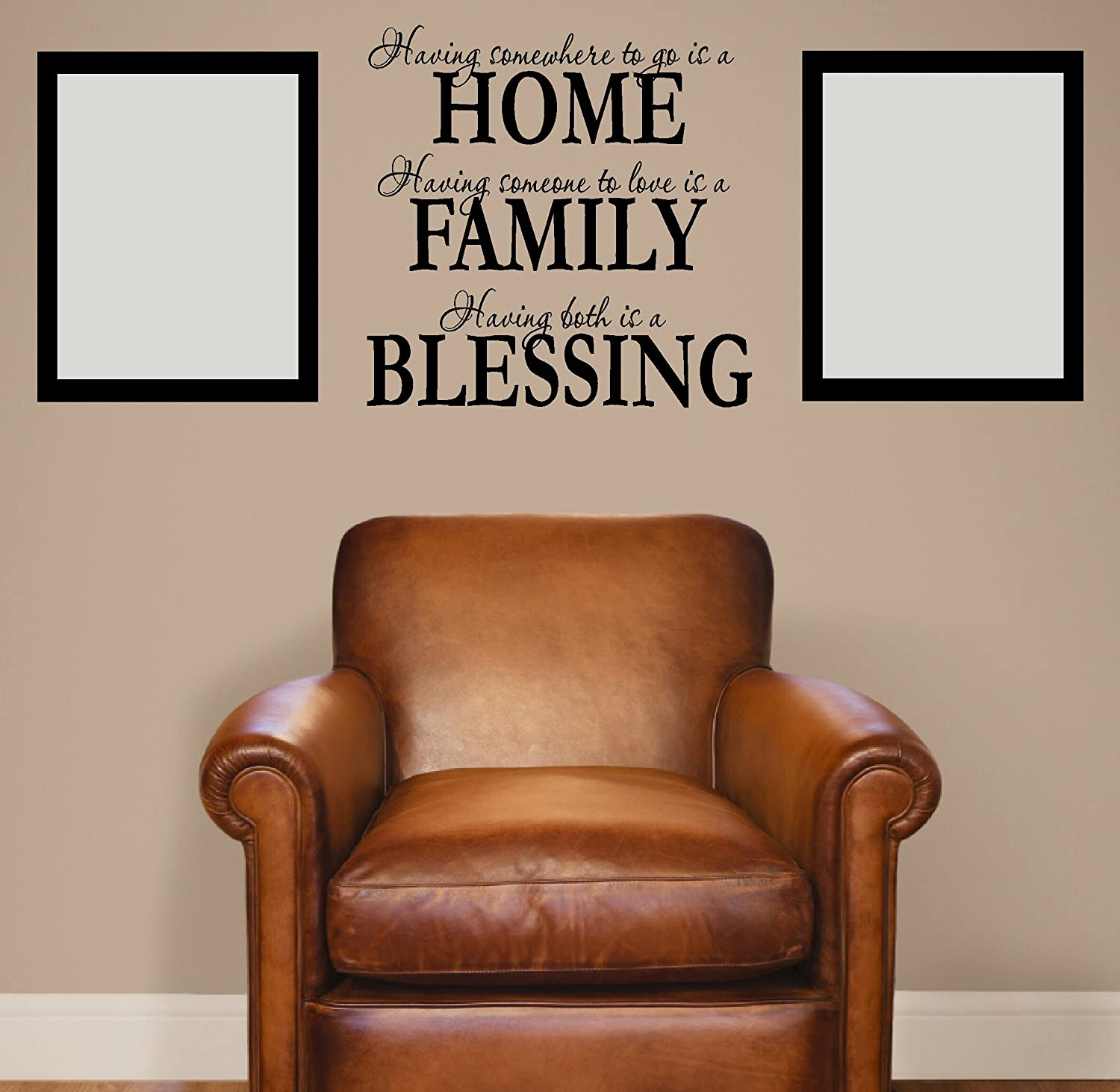 Wht Wall D/écor Plus More WDPM1200 Having. 23W by 23H White Wall Decor Plus More FA007 23x23 Home Love Having Both is a Blessing Wall Vinyl Sticker Decal