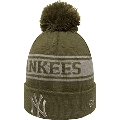 a00141c31d0 Image Unavailable. Image not available for. Color  New Era New York Yankees  Olive Green Seasonal Jake Beanie Hat MLB
