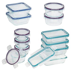 Snapware 1122515 Glass Food Storage Set, 24-Piece, Clear