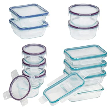 Snapware Total Solution Pyrex Glass Food Storage Set (Glass, 24-Piece )