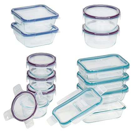 Snapware Total Solution Pyrex Glass Food Storage Set (Glass, 24 Piece )