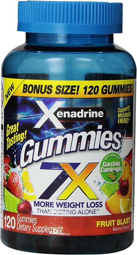Amazon Com Xenadrine Energized Weight Loss Gummies Fruit Blast