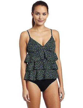 f8157b54c3d It Figures! Womens Fly Away 2 Pc Ruffle Top Tankini, Black, 8 at Amazon  Women's Clothing store: Fashion Tankini Swimsuits